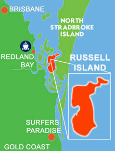 Russell Island Location Map