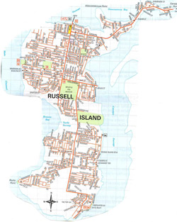 Russell Island Street Map